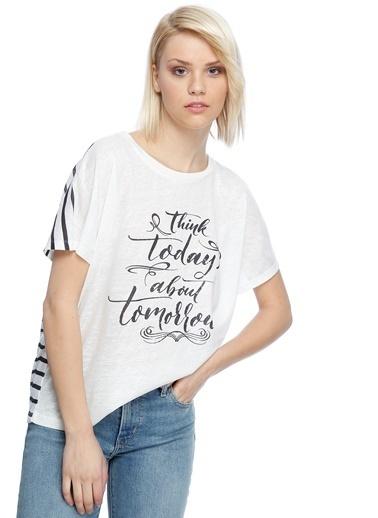 Limon Company Yazı Baskılı Tişört Lacivert